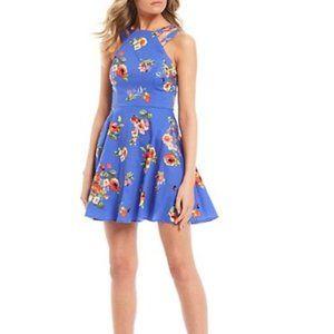 🐝B Darlin | Blue Floral Sundress | Size 0 | NWT